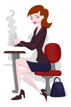 sexy cartoon girl: Businesswoman