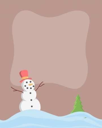 Cartoon Snowman   Stock Vector - 17030021