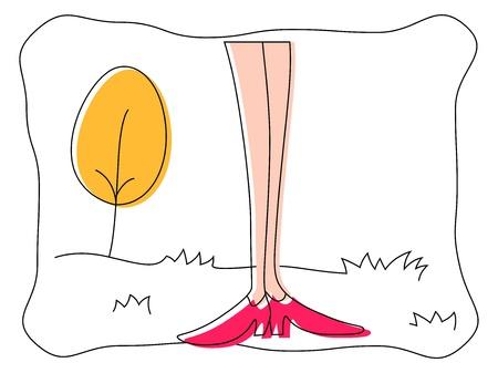 Woman Leg   Stock Vector - 17030016