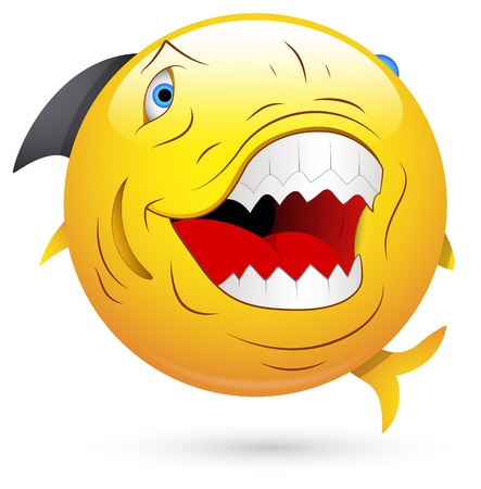Smiley Illustration - Evil Fish Vector