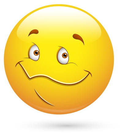satisfied expression: Smiley  Illustration - Happy Cute Face