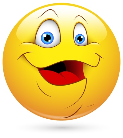 blushing: Smiley Vector Illustration - Fat Face