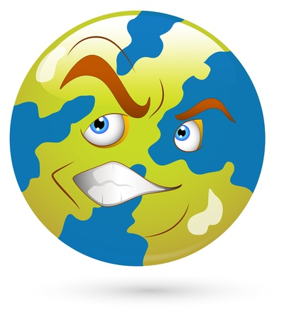 Smiley Vector Illustration - Earth Stock Vector - 18250303