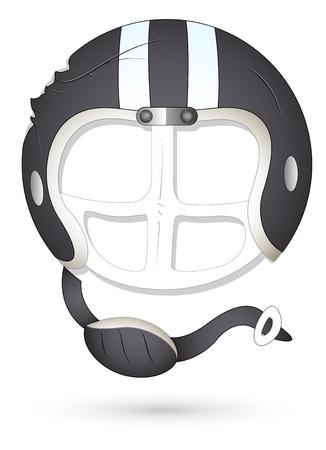 clipping mask: Smiley Vector Illustration - Athlete Helmet Illustration
