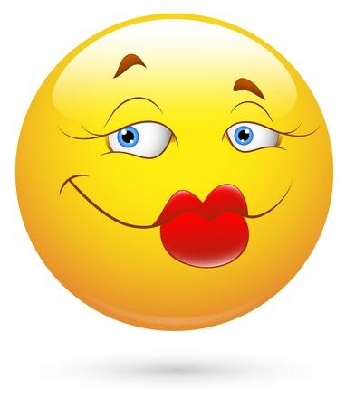 Smiley Vector Illustration - Lips