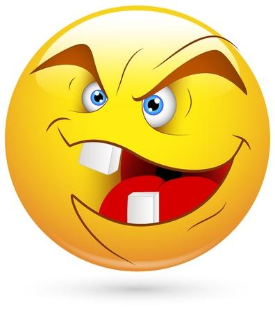 behaviours: Smiley del vector - Face Wicked Evil Vectores