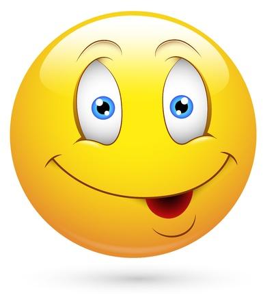 carita feliz caricatura: Smiley del vector - Face Encanto Vectores