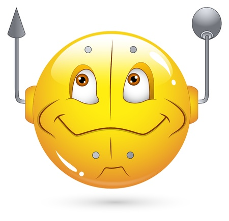Smiley Vector Illustration - Robotic Face Stock Vector - 18250241