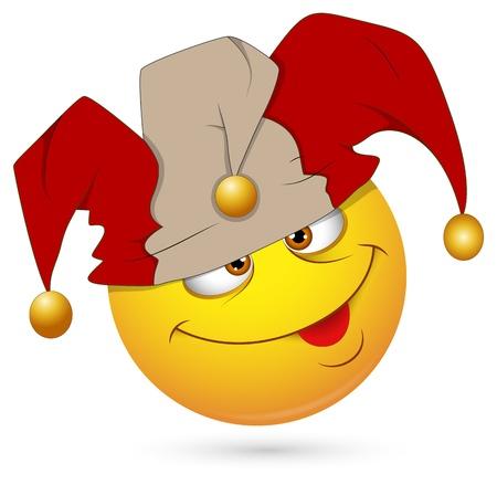 emoticone: Smiley illustrazione vettoriale - Jester Viso Vettoriali