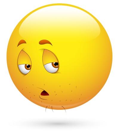 decepcionado: Smiley del vector - Rostro cansado