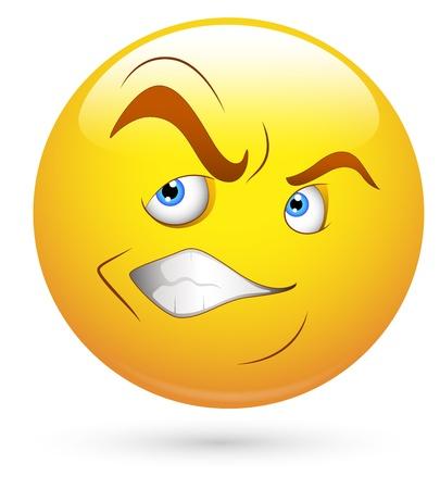 facial gestures: Smiley del vector - Face Irritado