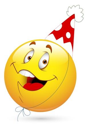 celebration smiley: Smiley Vector Illustration - Party Celebration Face Illustration
