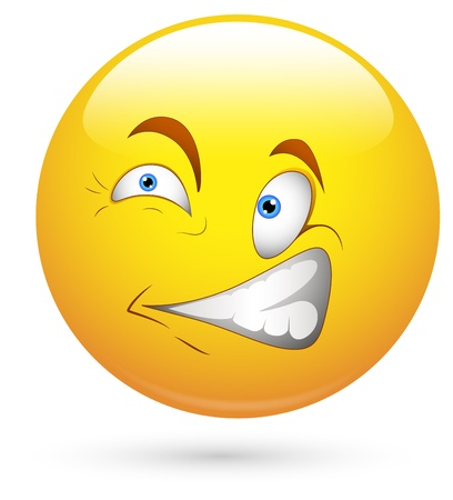 face expression: Smiley Vector Illustration -  Scared