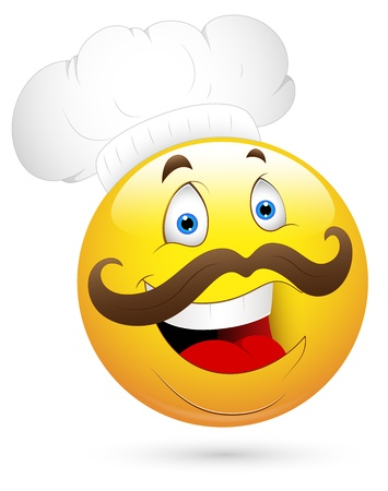 Smiley Vector Illustration - Happy Chef Illustration
