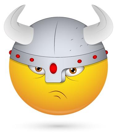 aggressive: Smiley Vector Illustration - Viking Face