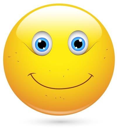 emoticone: Smiley illustrazione vettoriale - Viso Unshaved