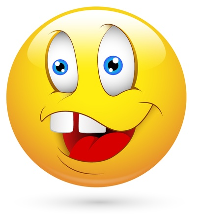dumb: Smiley Vector Illustration - Dumb Illustration