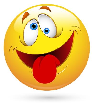 Smiley del vector - lengua Ilustración de vector