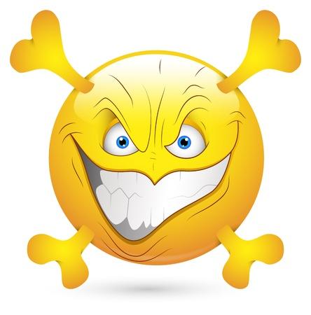 Smiley Vector Illustration - Creepy Stock Vector - 18243386
