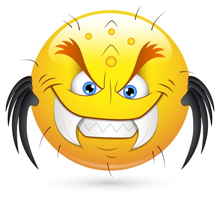 naughty: Smiley Vector Illustration - Monster Illustration