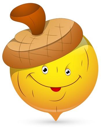 facial gestures: Smiley Vector Illustration - Beechnut Face