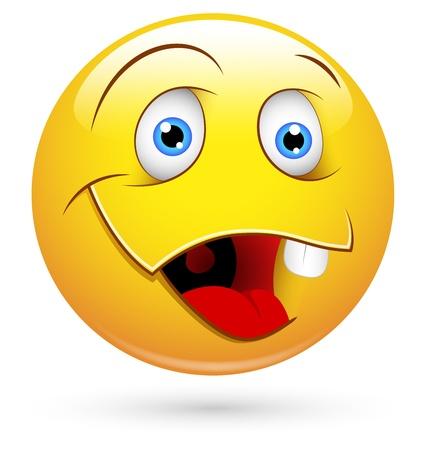 dumb: Smiley Vector Illustration - Dumb Face