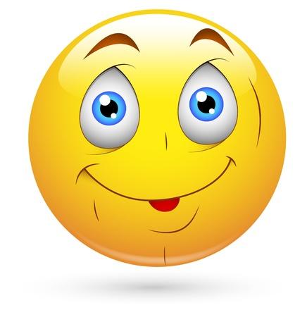 Smiley Vector Illustration - Cute Innocent Face Stock Vector - 18243369