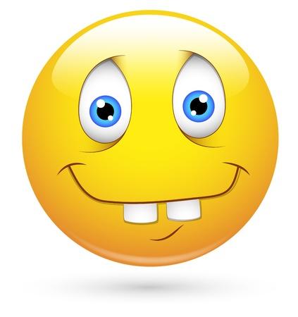 Smiley Vector Illustration - Idiot Face Illustration