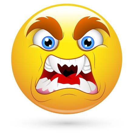 horrifying: Smiley Vector Illustration - Horrifying Face Illustration