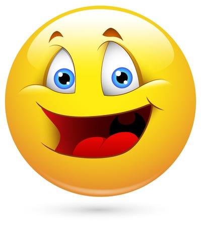 caras emociones: Smiley del vector - Face Childish