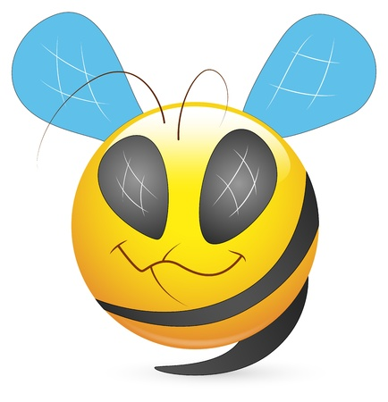 Smiley Vector Illustration - Bee Face Vector