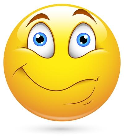 Smiley Vector Illustration - Listening Stock Vector - 18243374
