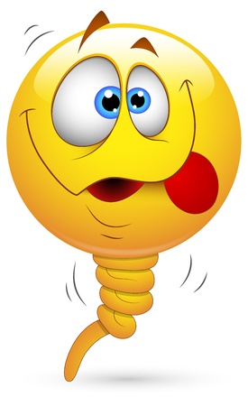 dizzy: Smiley Vector Illustration - Balloon Face Illustration