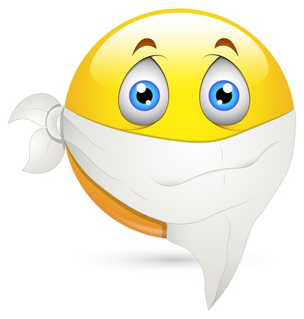 wonder: Smiley Vector Illustration - Handkerchief on Face