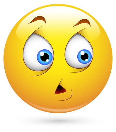 miedoso: Smiley del vector - Face Scared