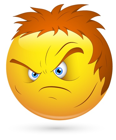 disappoint: Smiley Vector Illustration - Angry Lout Face