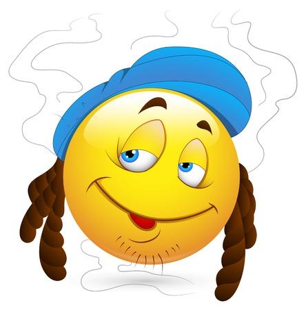 emoticone: Smiley illustrazione vettoriale - Stinky Uomo Viso