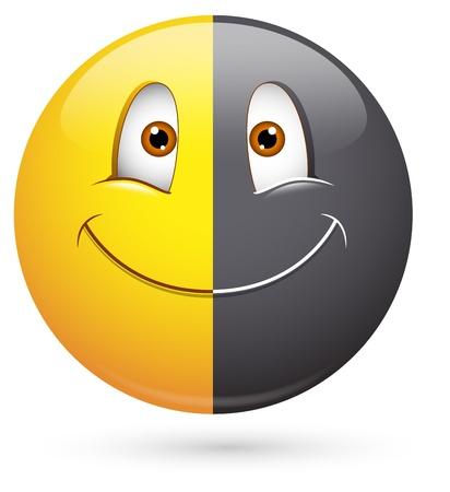 behaviours: Smiley del vector - Face Racismo Vectores