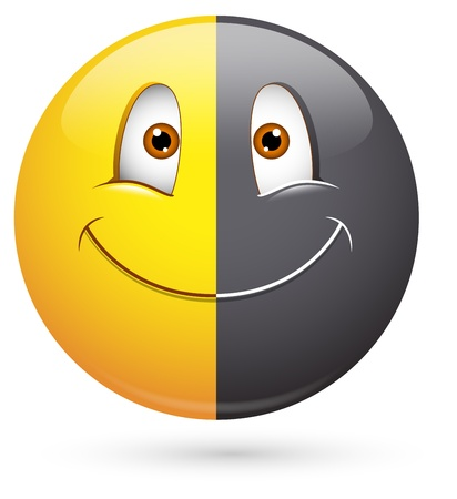 Smiley Vector Illustration - Racism Face Vector