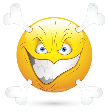 Smiley Vector Illustration - Dangerous Face Vector