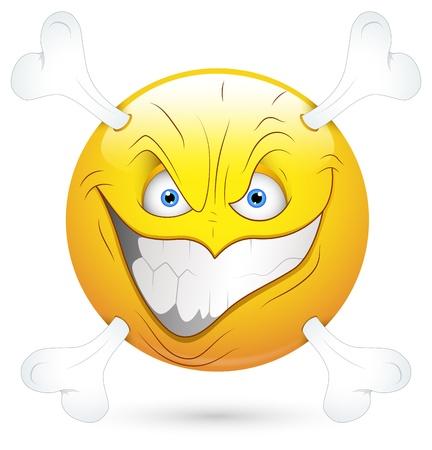 Smiley Vector Illustration - Dangerous Face Stock Vector - 18243371