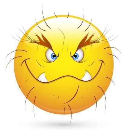 facial gestures: Smiley del vector - Face Monster Wild