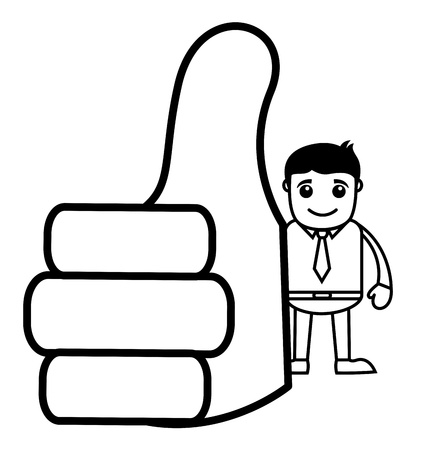 Office Vector Cartoon Character Illustration - Thumbs Up Stock Vector - 19284884