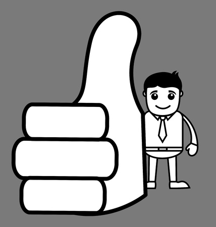 Office Woker Showing Thumbs Up Vector
