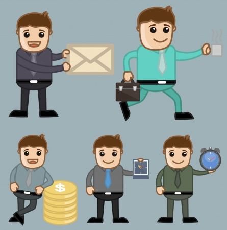 Various Concepts - Office and Business People Cartoon Character Vector Illustration Concept illustration