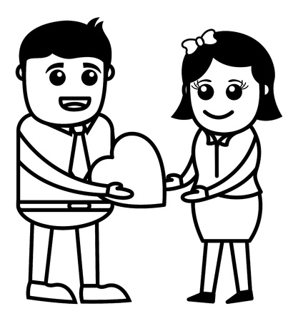 propose: Presenting Heart Illustration