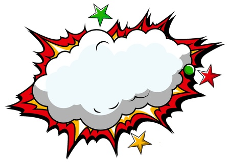 Comic Cloud Background   Ilustração
