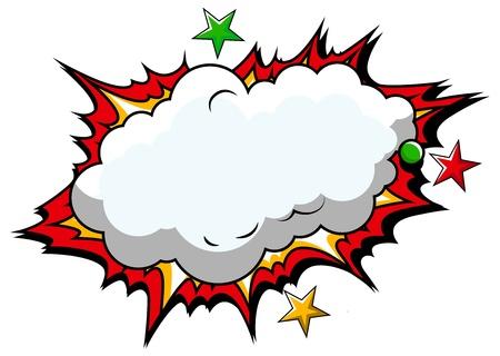 Comic Cloud Background   Illustration