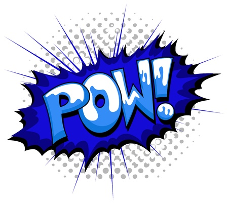 pow: Pow - Comic Expression  Text Illustration