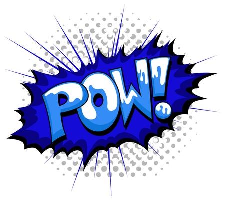 Pow - Comic Expression  Text Ilustração